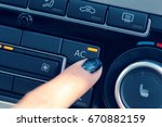 climate control unit in the new ... | Shutterstock . vector #670882159
