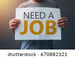need a job  casual unemployed... | Shutterstock . vector #670882321