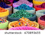 multicolored dried flowers ... | Shutterstock . vector #670893655