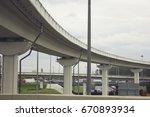 highway overpass | Shutterstock . vector #670893934