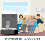 vector illustration of a family ... | Shutterstock .eps vector #670894765