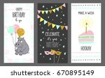 happy birthday greeting cards... | Shutterstock .eps vector #670895149