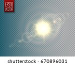 lens flare vector effect on... | Shutterstock .eps vector #670896031