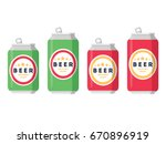 beer set. a collection of beer... | Shutterstock .eps vector #670896919