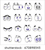 comic style eyes | Shutterstock .eps vector #670898545