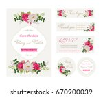 wedding invitation cards with... | Shutterstock .eps vector #670900039