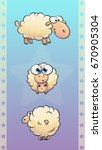 cartoon beautiful funny sheeps...