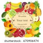 vector image of ripe fruits for ...   Shutterstock .eps vector #670906474