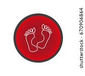 human foot  footprint  icon | Shutterstock .eps vector #670906864