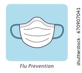 medical mask  flu prevention... | Shutterstock .eps vector #670907041