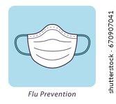 medical mask  flu prevention... | Shutterstock .eps vector #670907041