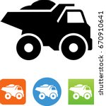 heavy duty dump truck icon | Shutterstock .eps vector #670910641