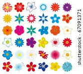 Stock vector a collection of flowers for the design vector illustration 67091371