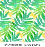 green tropical leaves... | Shutterstock . vector #670914241