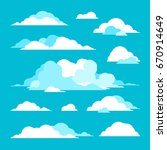 blue clouds  | Shutterstock .eps vector #670914649