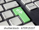 green enter with dollar symbol... | Shutterstock . vector #670915237