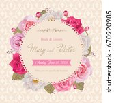 wedding invitation  thank you... | Shutterstock .eps vector #670920985