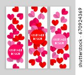 valentine day set of banners... | Shutterstock .eps vector #670924369