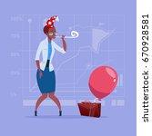african american business woman ... | Shutterstock .eps vector #670928581