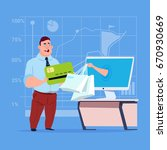 business man use computer... | Shutterstock .eps vector #670930669