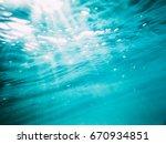 Underwater Wave In Tropical Se...