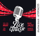 live music poster with a... | Shutterstock .eps vector #670936255