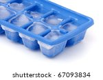 A Blue Plastic Ice Cube Tray...