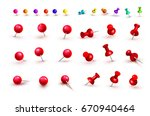 collection of various red and... | Shutterstock .eps vector #670940464