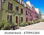 rue cremieux in the 12th...   Shutterstock . vector #670941364