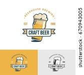 original vintage craft beer... | Shutterstock . vector #670943005