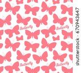 vector butterfly silhouette... | Shutterstock .eps vector #670943647