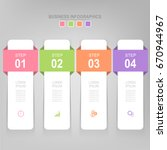 infographic template of four... | Shutterstock .eps vector #670944967