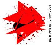 geometric art with random... | Shutterstock .eps vector #670948081