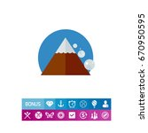 avalanche down mountain side... | Shutterstock .eps vector #670950595