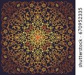 arabic geometric gold mandala... | Shutterstock .eps vector #670952335