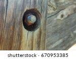 rusty bolt | Shutterstock . vector #670953385