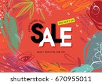 sale banner template design.... | Shutterstock .eps vector #670955011
