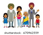 multi generation family  indian | Shutterstock .eps vector #670962559