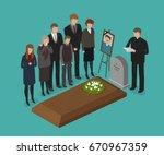funeral  burial concept.... | Shutterstock .eps vector #670967359