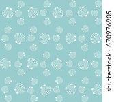 seashell pattern  marine conch...   Shutterstock .eps vector #670976905