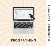 coding php or html on laptop...