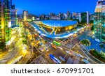 Aerial Shot  Of The Dongdaemun...