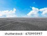 asphalt road and sky cloud... | Shutterstock . vector #670995997