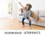 beautiful young little girl...   Shutterstock . vector #670996471