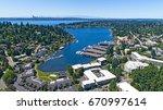 bellevue washington aerial view ... | Shutterstock . vector #670997614
