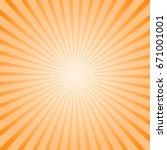 art sunny striped background....   Shutterstock . vector #671001001