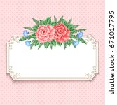 invitation or greeting card... | Shutterstock . vector #671017795