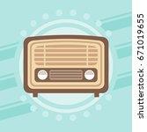 retro radio design  vector... | Shutterstock .eps vector #671019655