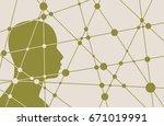 silhouette of a man's head.... | Shutterstock . vector #671019991