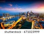 Singapore City Skyline ...